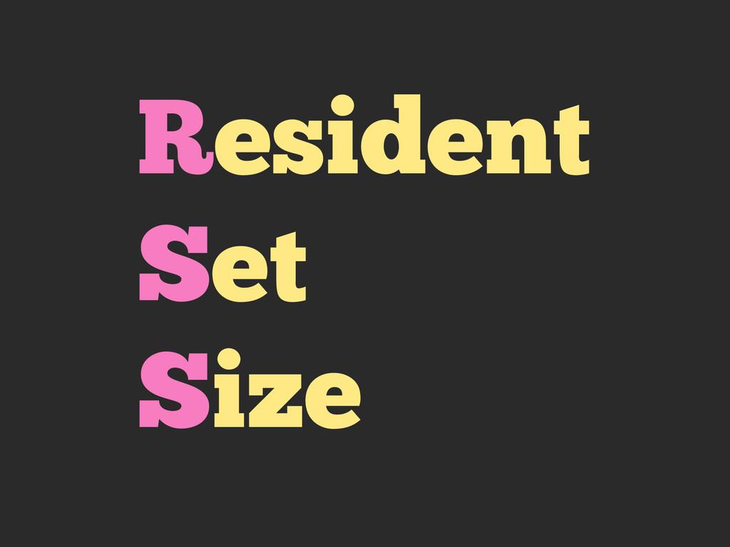 Resident Set Size