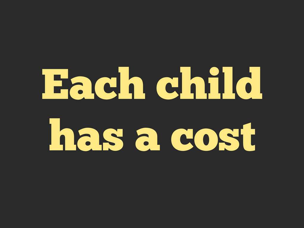 Each child has a cost