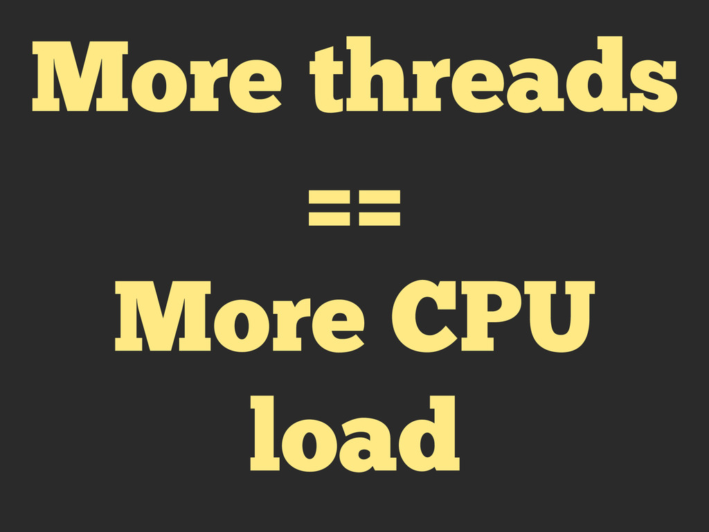 More threads == More CPU load