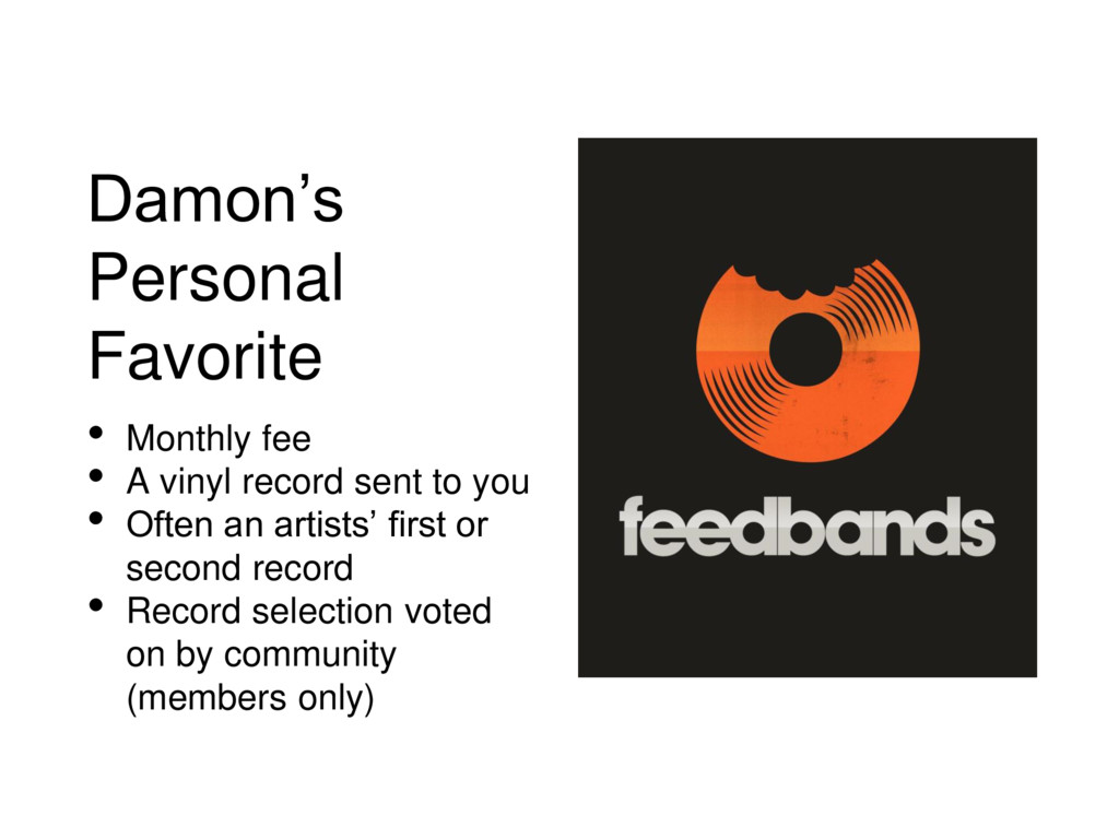 Damon's Personal Favorite • Monthly fee • A vin...