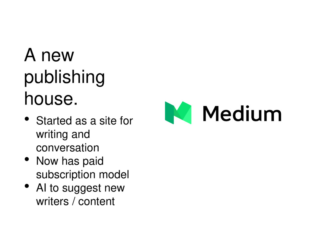 A new publishing house. • Started as a site for...