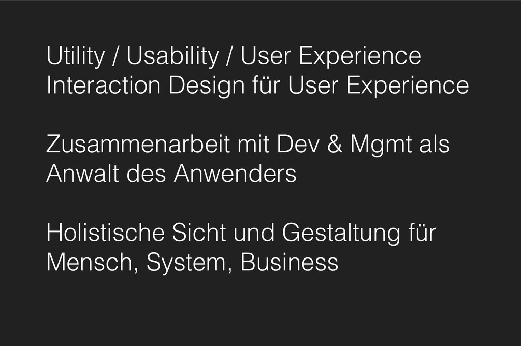 Utility / Usability / User Experience Interacti...