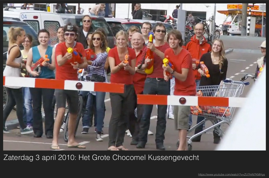 Zaterdag 3 april 2010: Het Grote Chocomel Kusse...