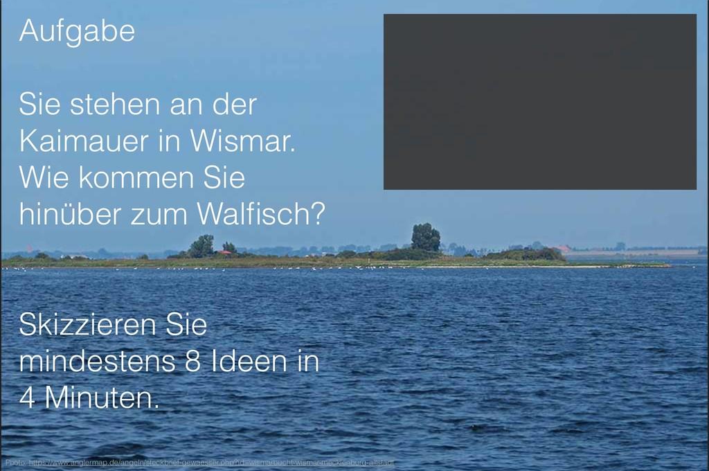 Aufgabe Sie stehen an der Kaimauer in Wismar. W...