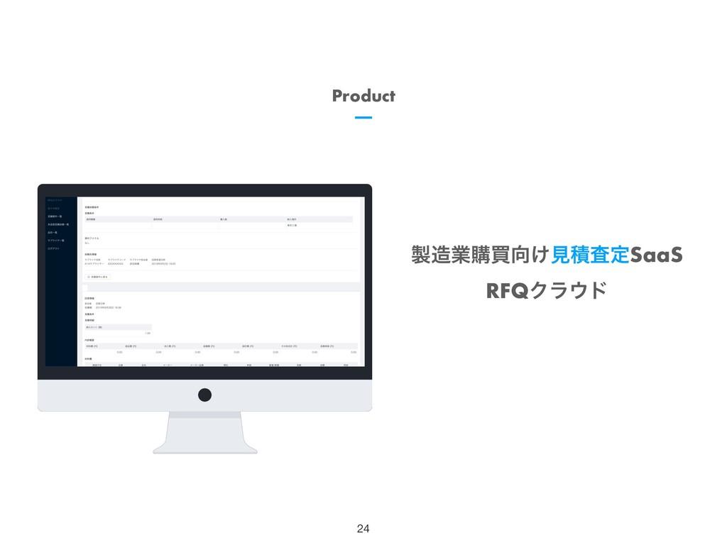 !24 ۀߪങ͚ݟੵࠪఆSaaS RFQΫϥυ Product