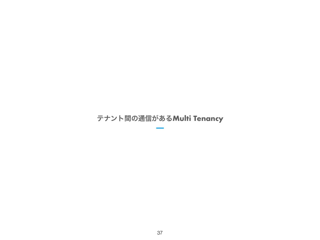 ςφϯτؒͷ௨৴͕͋ΔMulti Tenancy !37