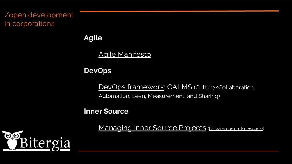 /open development in corporations Agile Agile M...