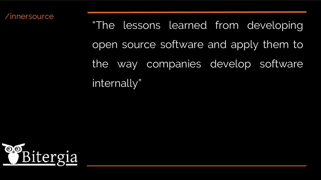 """/innersource """"The lessons learned from developi..."""