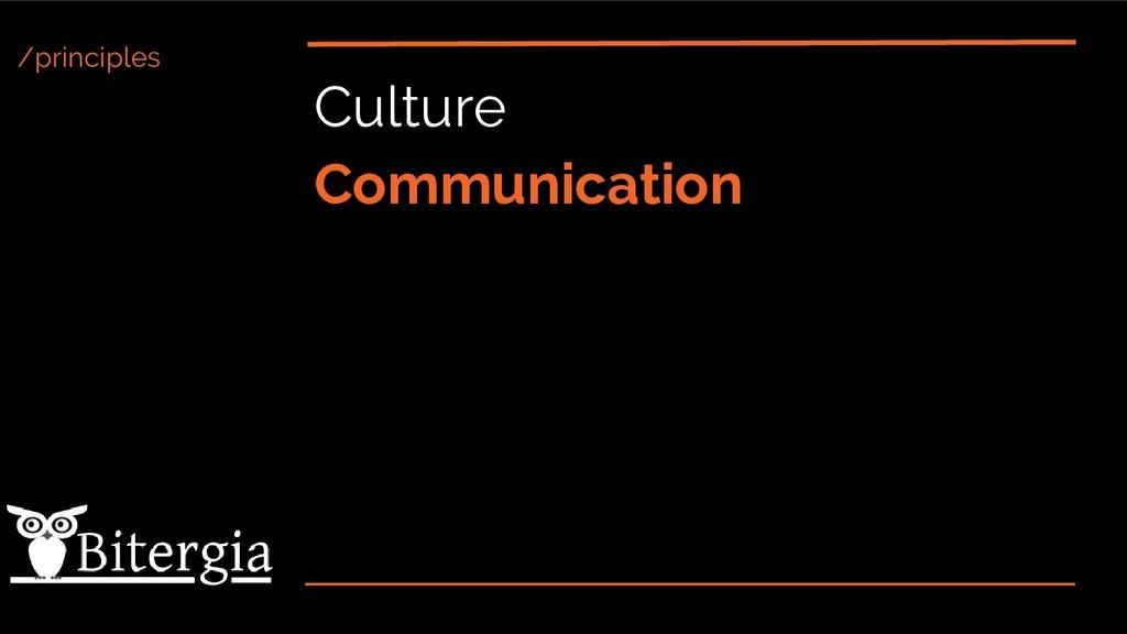 /principles Culture Communication