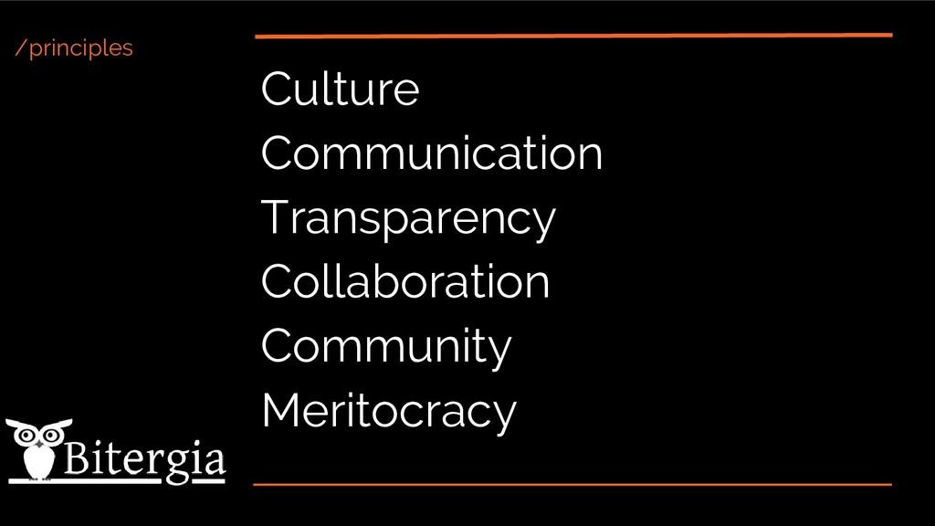 /principles Culture Communication Transparency ...