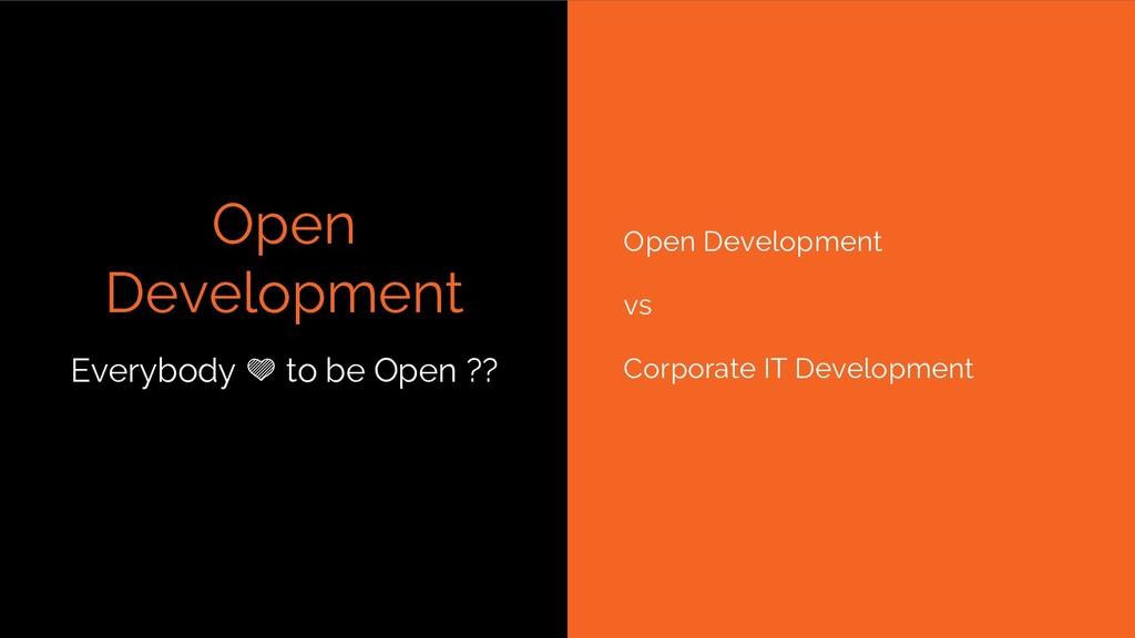 Open Development Open Development vs Corporate ...