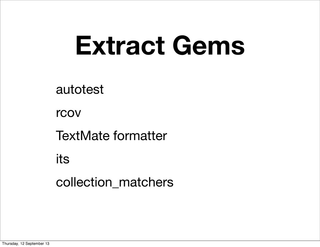 Extract Gems autotest rcov TextMate formatter i...