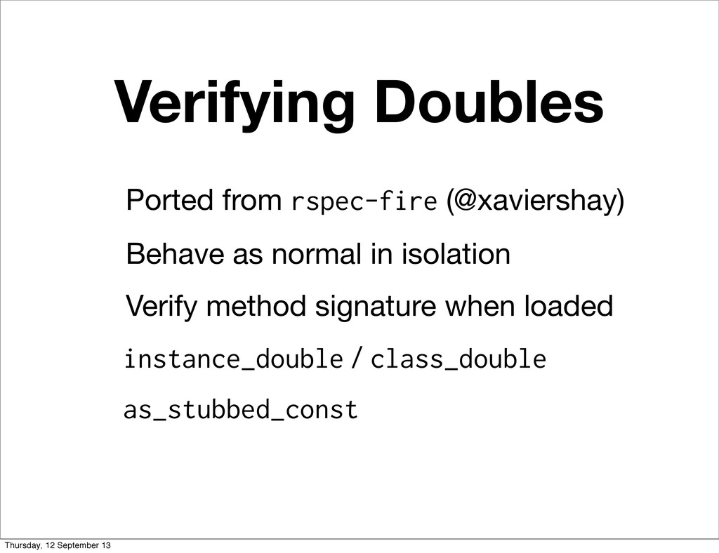 Verifying Doubles Ported from rspec-fire (@xavi...