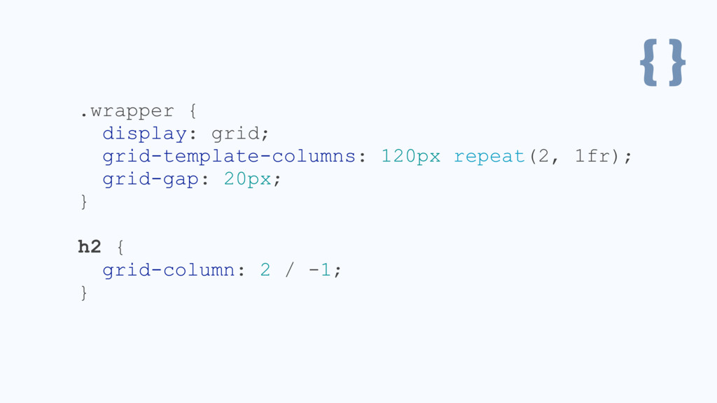 { } .wrapper { display: grid; grid-template-col...