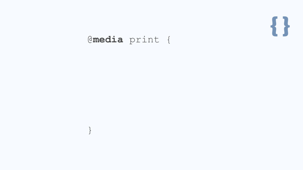 { } @media print { .header { position: static; ...
