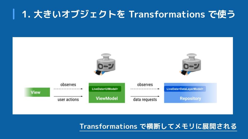 1. 大きいオブジェクトを Transformations で使う Transformatio...