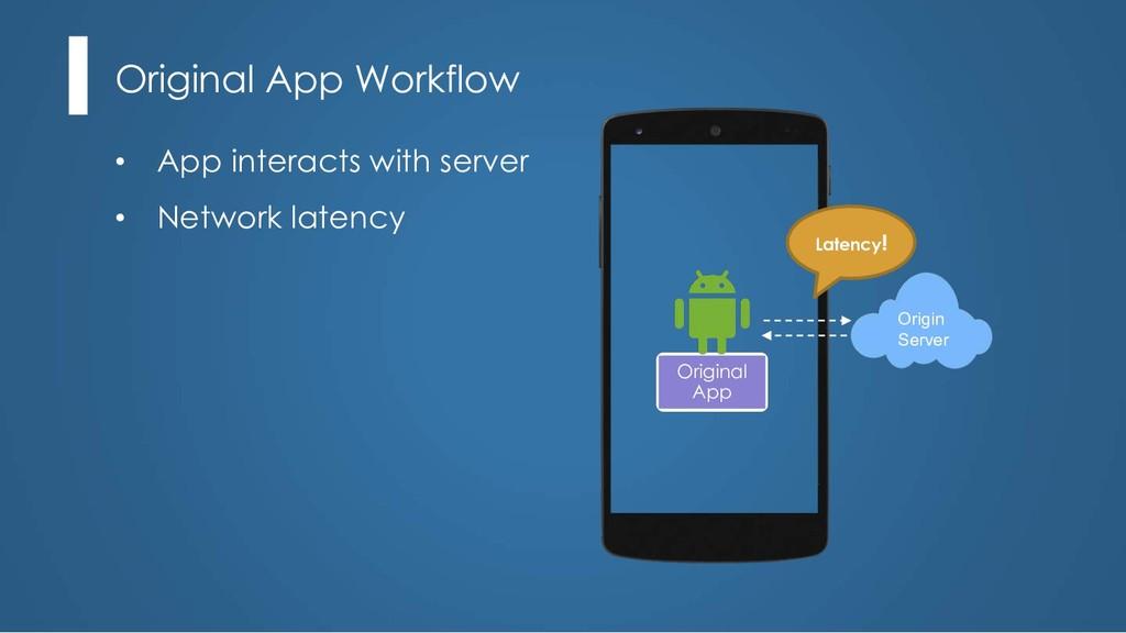 Original App Workflow Origin Server Latency! Or...