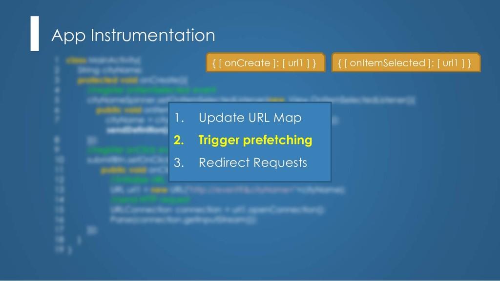 App Instrumentation 1. Update URL Map 2. Trigge...