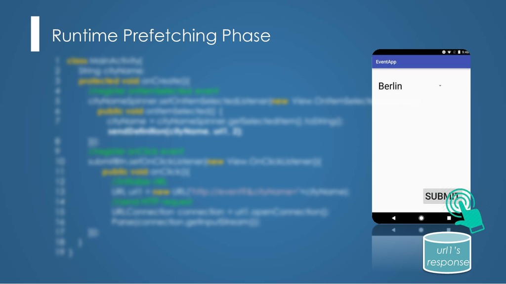 Runtime Prefetching Phase url1's response