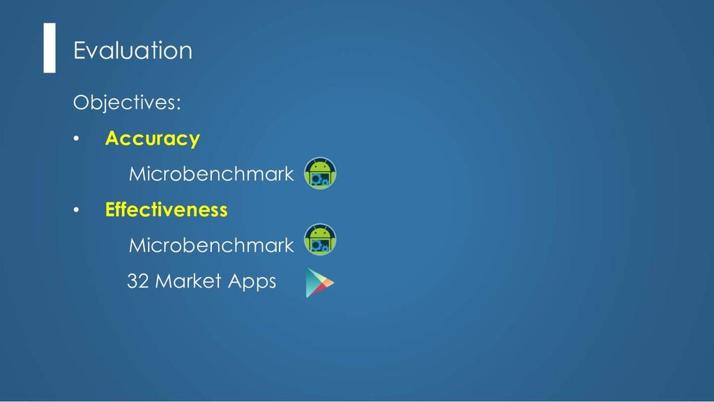 Evaluation Objectives: • Accuracy Microbenchmar...