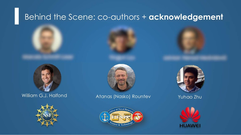 Behind the Scene: co-authors + acknowledgement ...