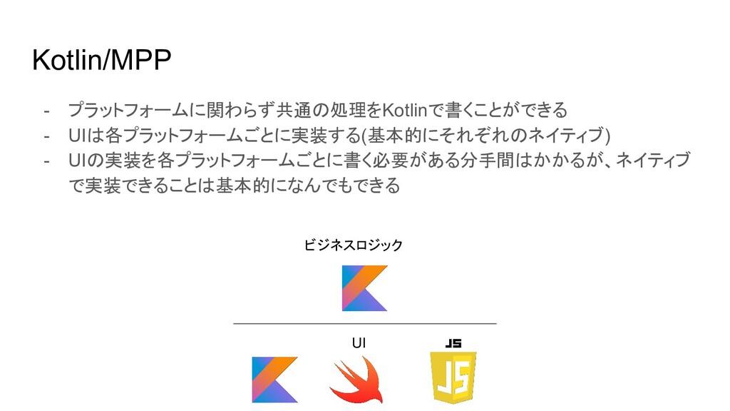 Kotlin/MPP - プラットフォームに関わらず共通の処理をKotlinで書くことができる...