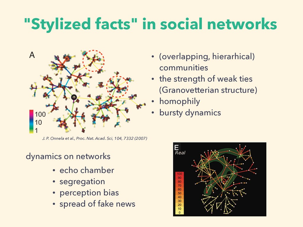 """Stylized facts"" in social networks • echo cham..."