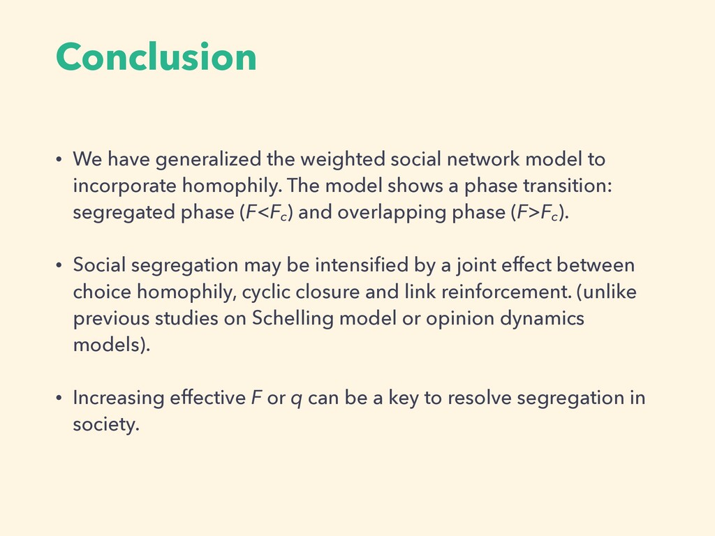 Conclusion • We have generalized the weighted s...