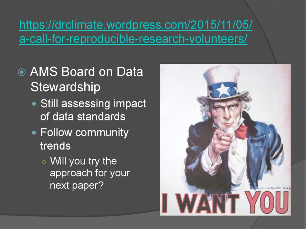 ž AMS Board on Data Stewardship — Still ass...