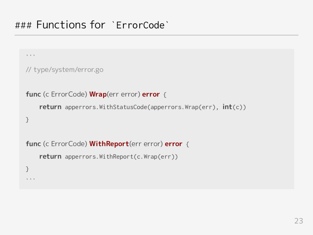### Functions for `ErrorCode` ``` // type/syste...