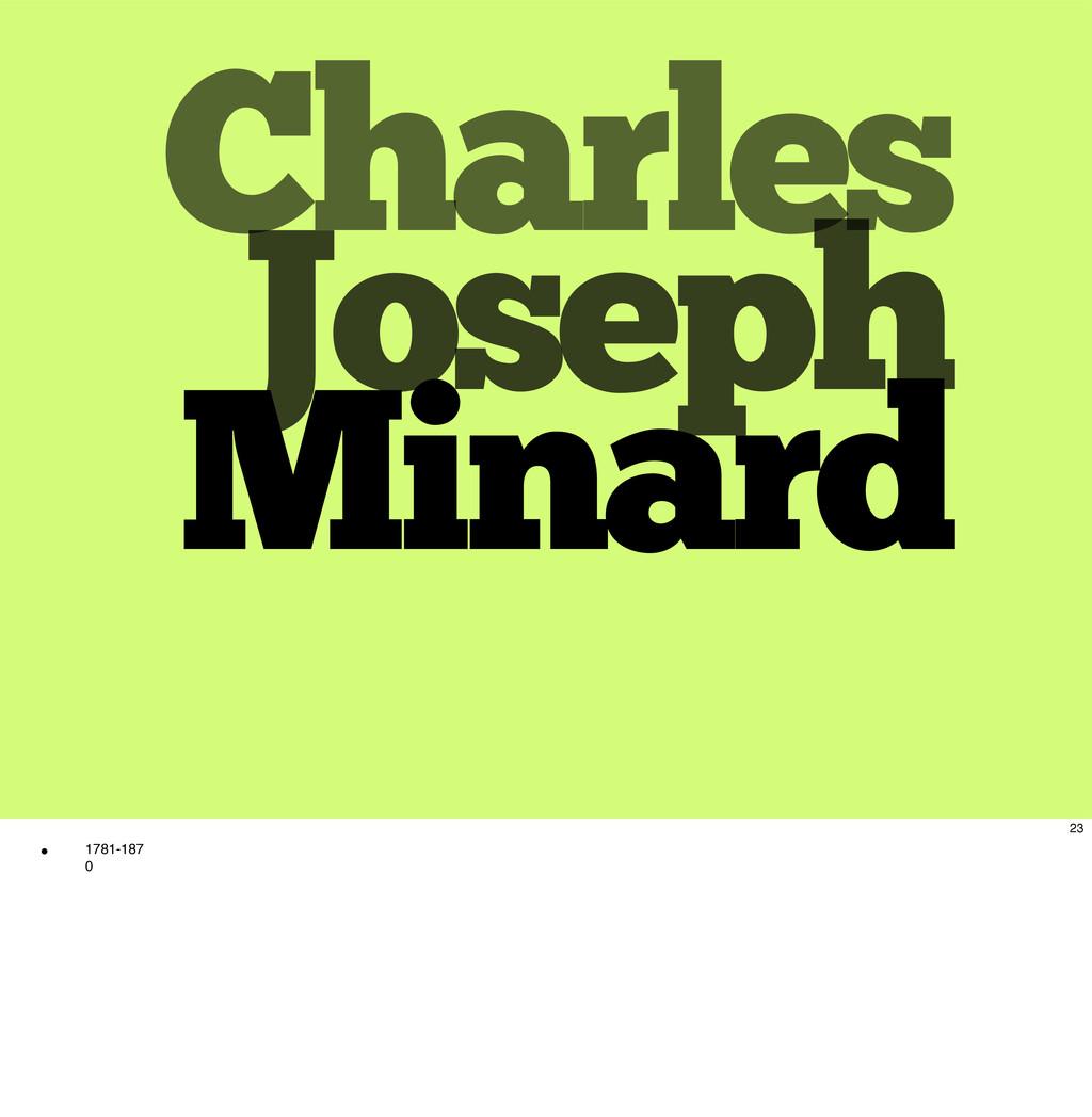 Charles Joseph Minard 23 w 1781-187 0