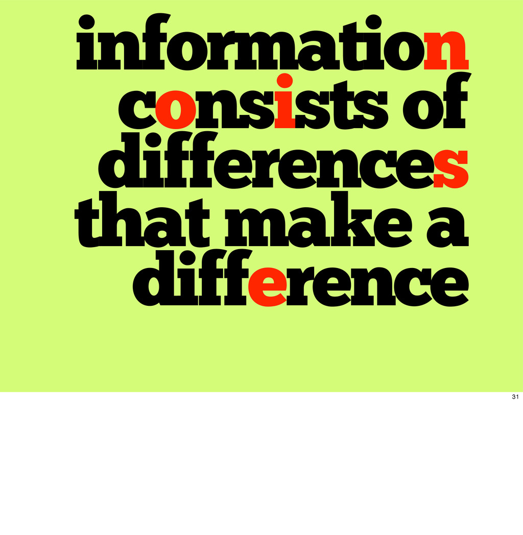 information consists of differences that make a...