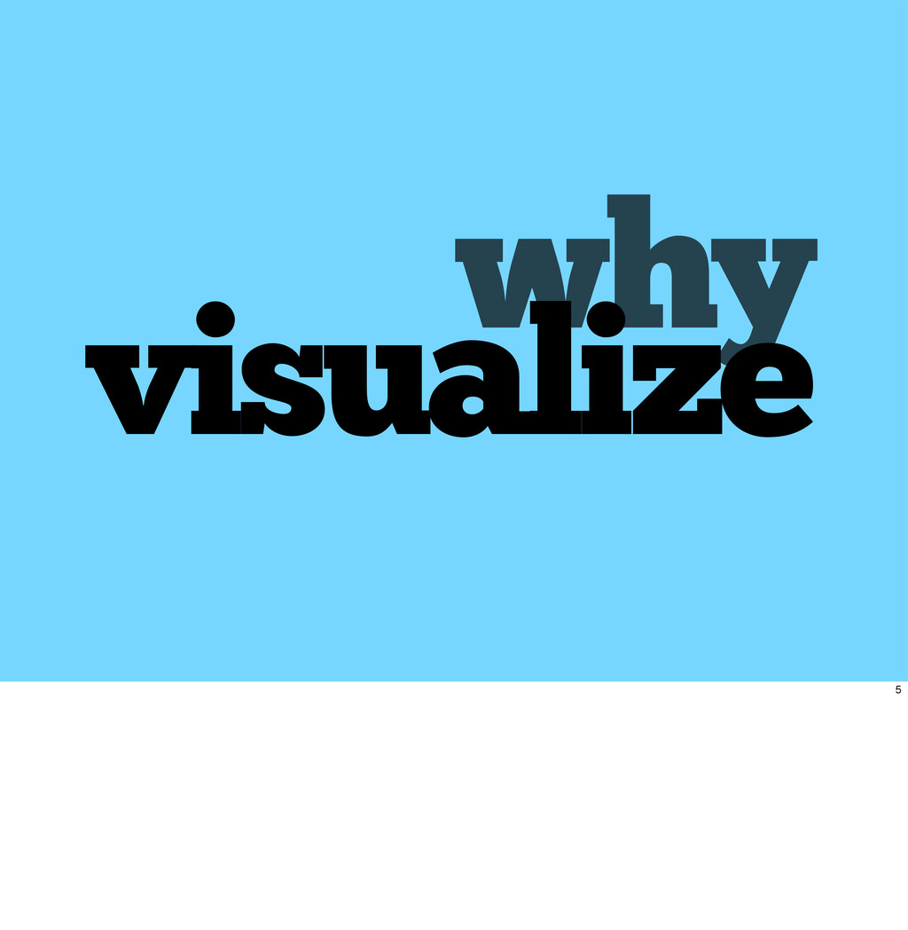 why visualize 5