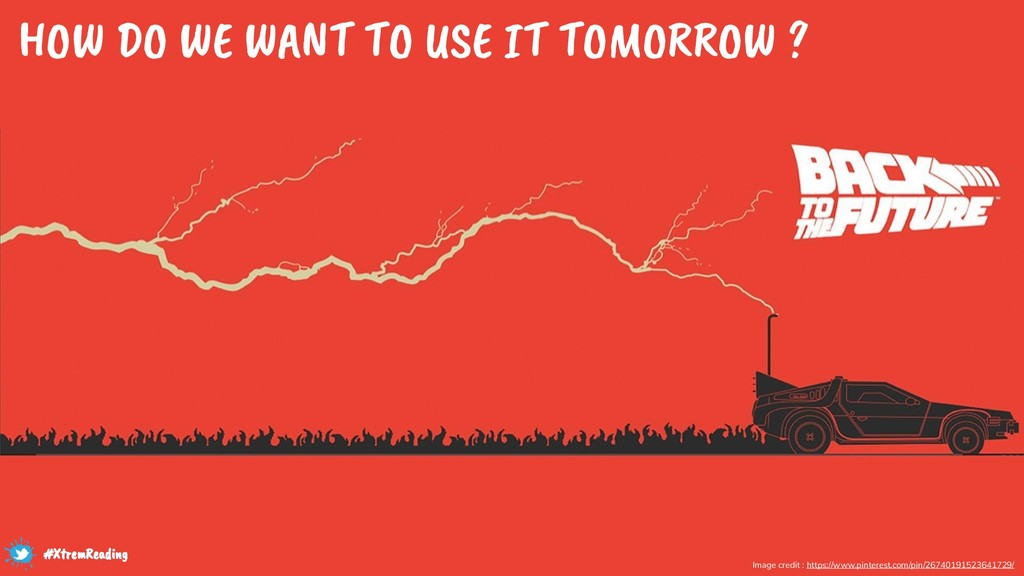 HOW DO WE WANT TO USE IT TOMORROW ? Image credi...