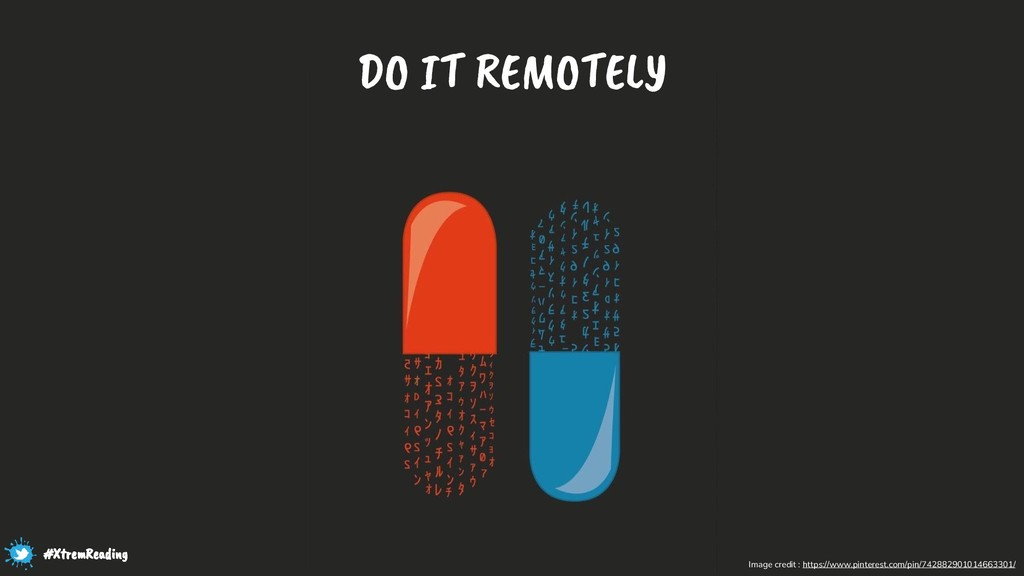 DO IT REMOTELY Image credit : https://www.pinte...