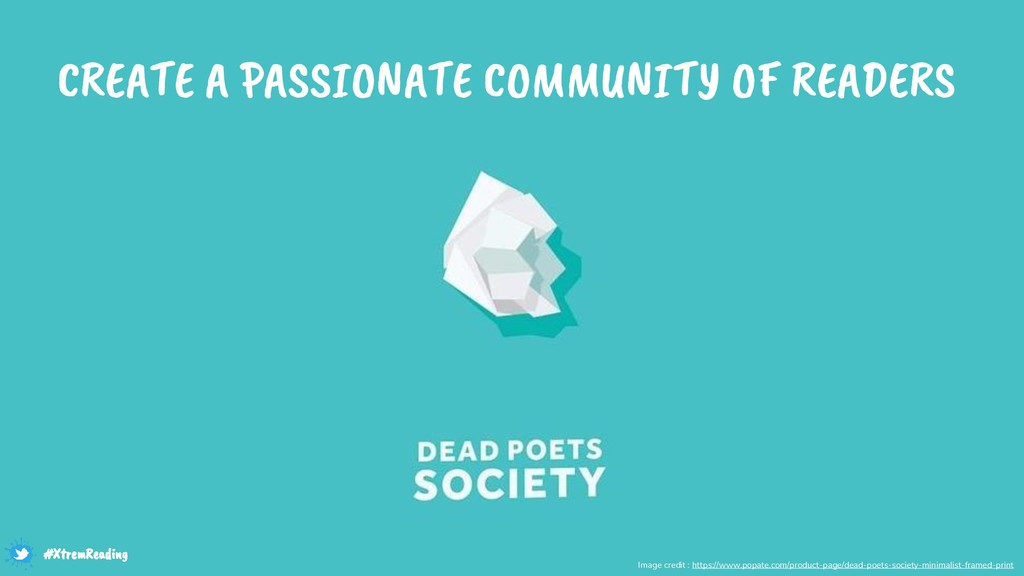 CREATE A PASSIONATE COMMUNITY OF READERS Image ...
