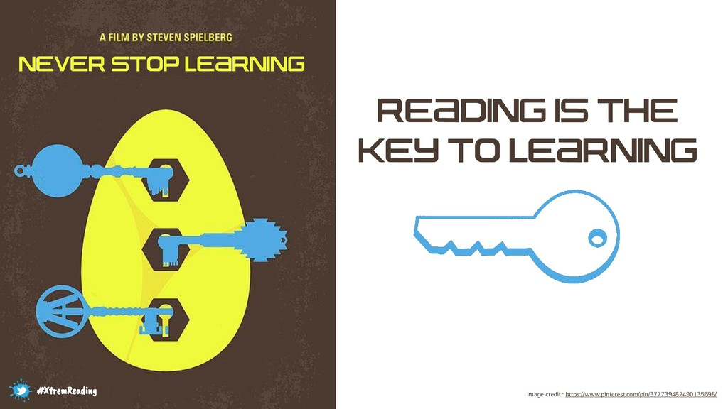 NEVER STOP LEARNING READING IS THE KEY TO LEARN...