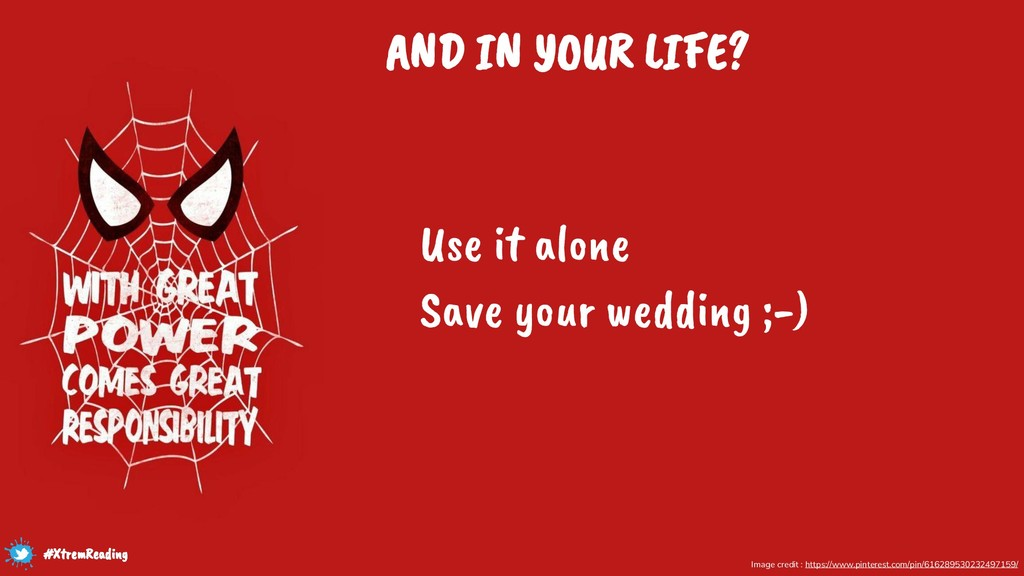 AND IN YOUR LIFE? Use it alone Save your weddin...