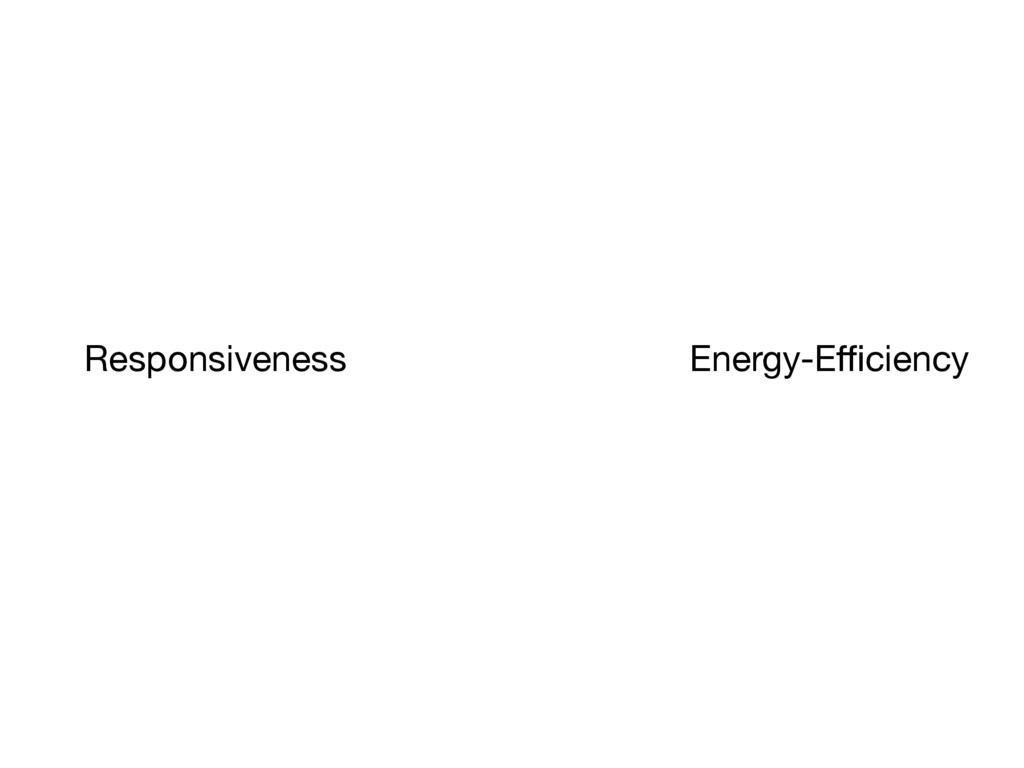 Responsiveness Energy-Efficiency