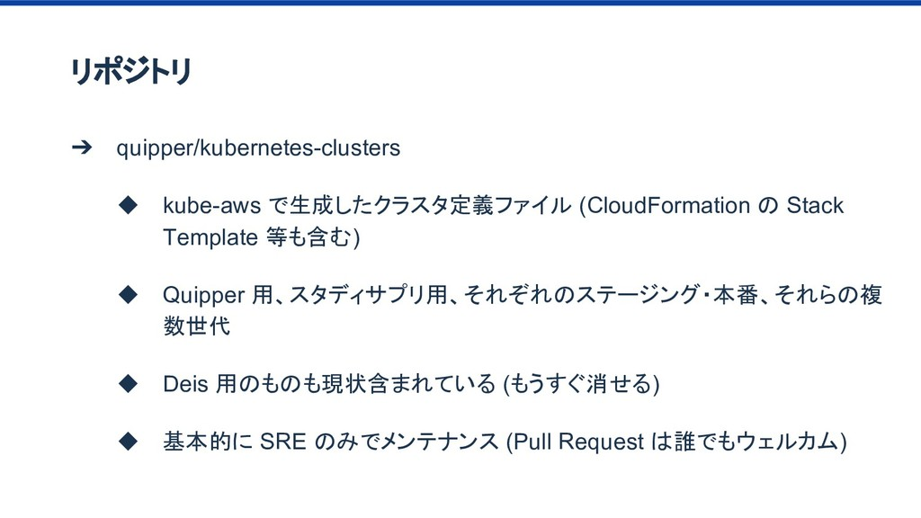 リポジトリ ➔ quipper/kubernetes-clusters ◆ kube-aws ...