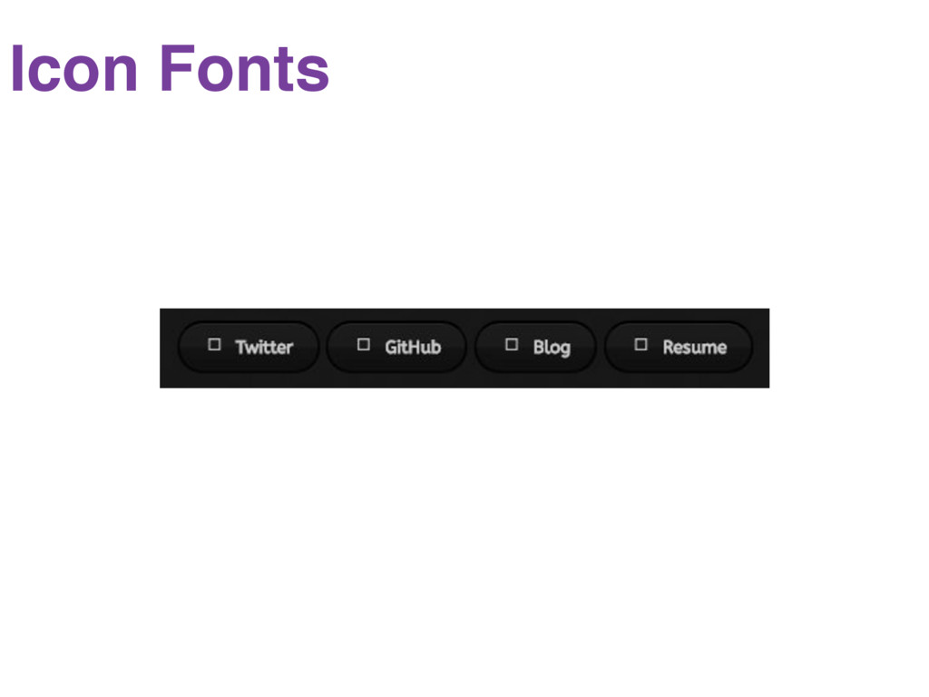 Icon fonts Icon Fonts
