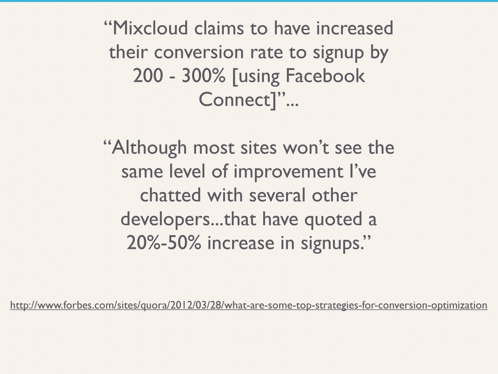 """""""Mixcloud claims to have increased their conver..."""