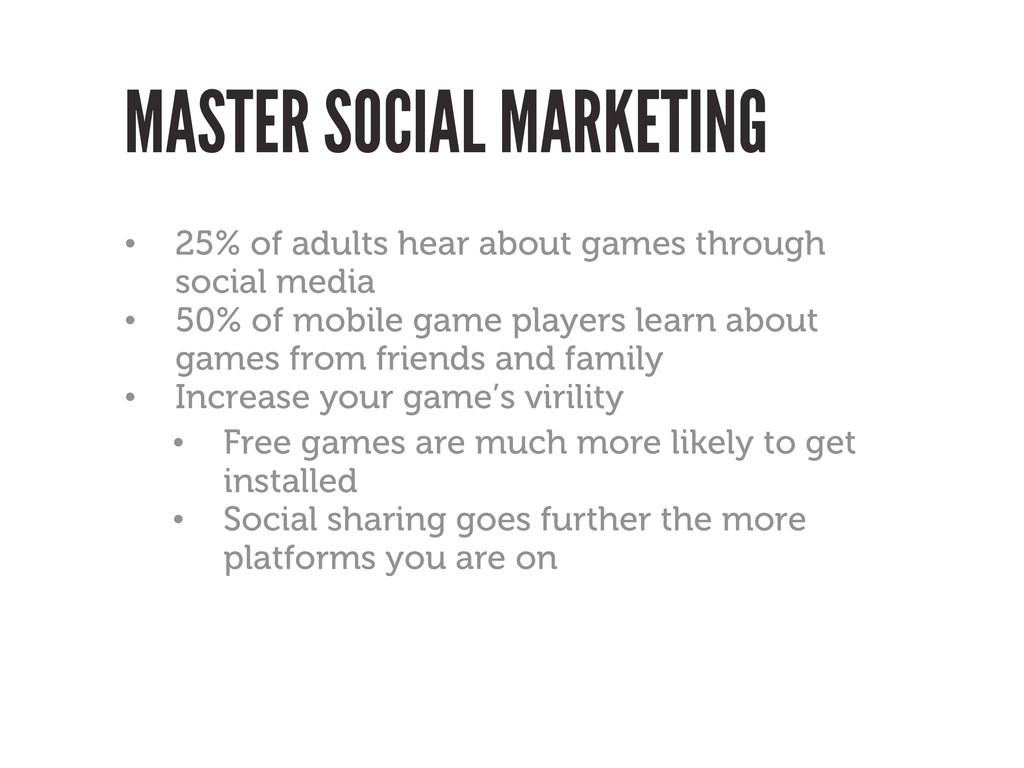 MASTER SOCIAL MARKETING • 25% of adults hear ab...