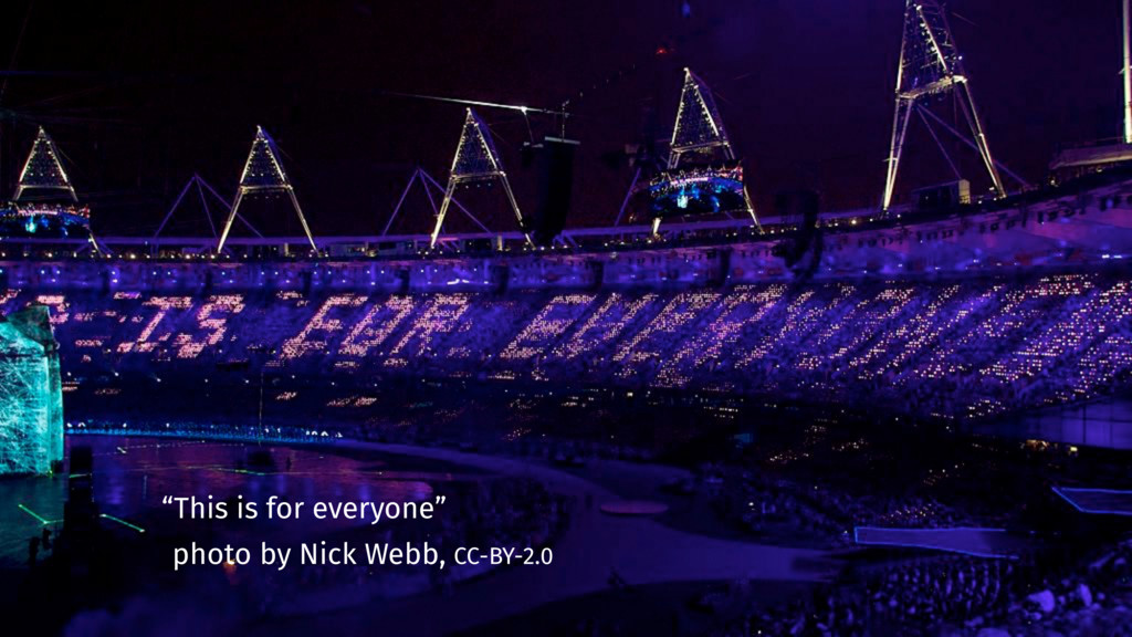 """This is for everyone"" photo by Nick Webb, CC-B..."