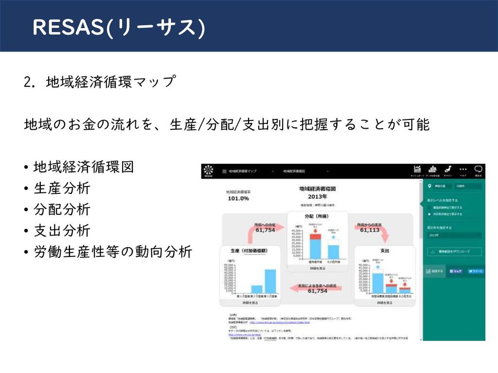 川崎シビックパワーバトル2019 RESAS(リーサス) 2. 地域経済循環マップ 地域のお金...