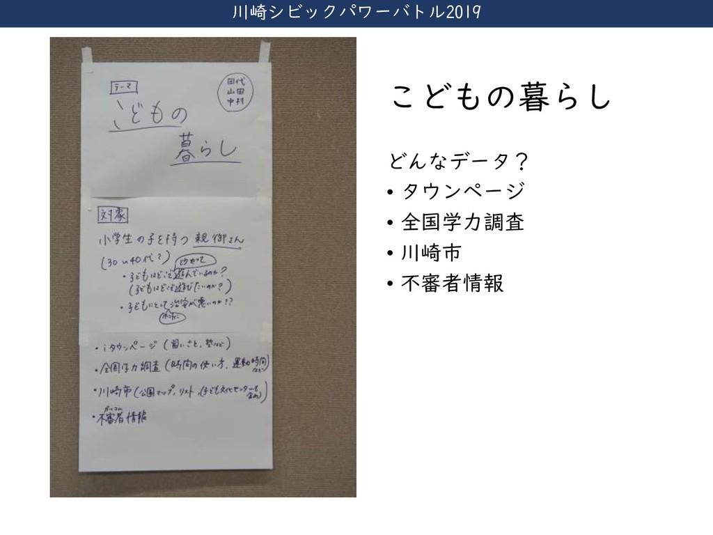 川崎シビックパワーバトル2019 こどもの暮らし どんなデータ? • タウンページ • 全国学...