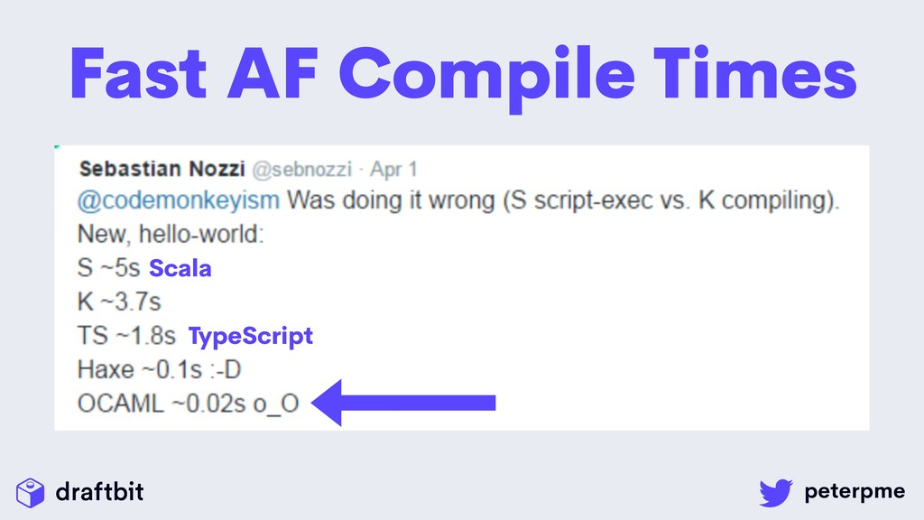 Fast AF Compile Times TypeScript Scala