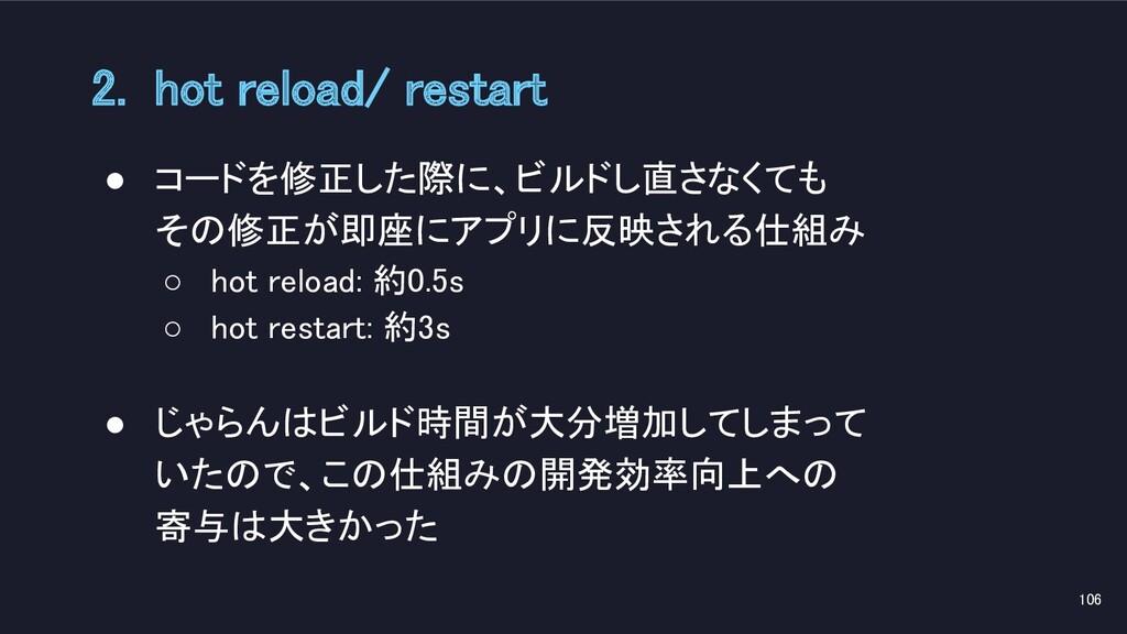 ● コードを修正した際に、ビルドし直さなくても その修正が即座にアプリに反映される仕組み ...