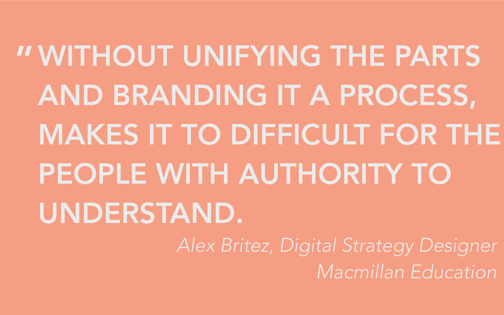WITHOUT UNIFYING THE PARTS AND BRANDING IT A PR...