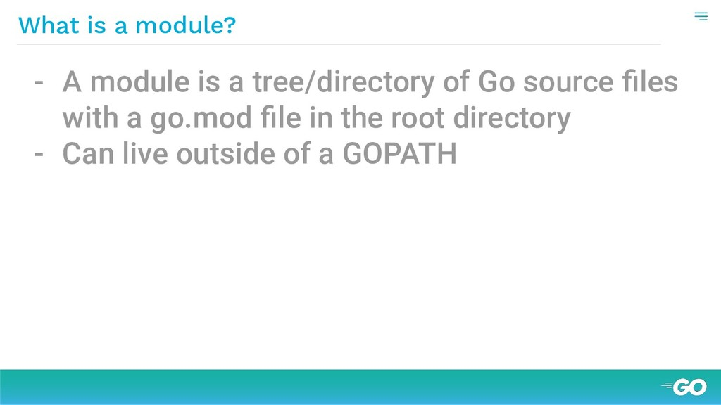 What is a module? - A module is a tree/director...